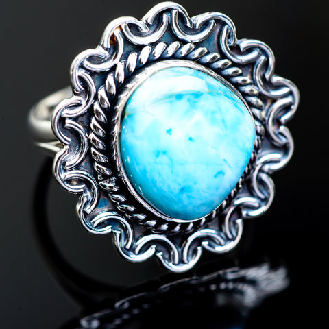Larimar Rings handcrafted by Ana Silver Co - RING996346