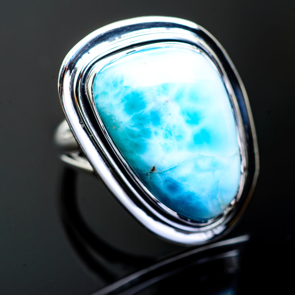 Larimar Rings handcrafted by Ana Silver Co - RING996632