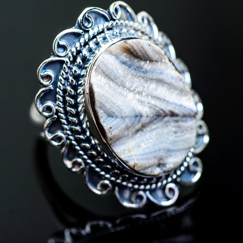 Desert Druzy Rings handcrafted by Ana Silver Co - RING996658