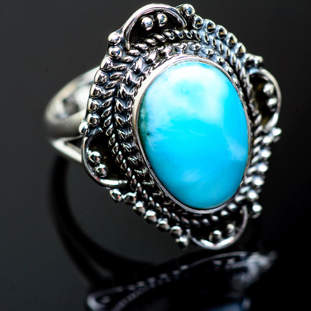 Larimar Rings handcrafted by Ana Silver Co - RING996717