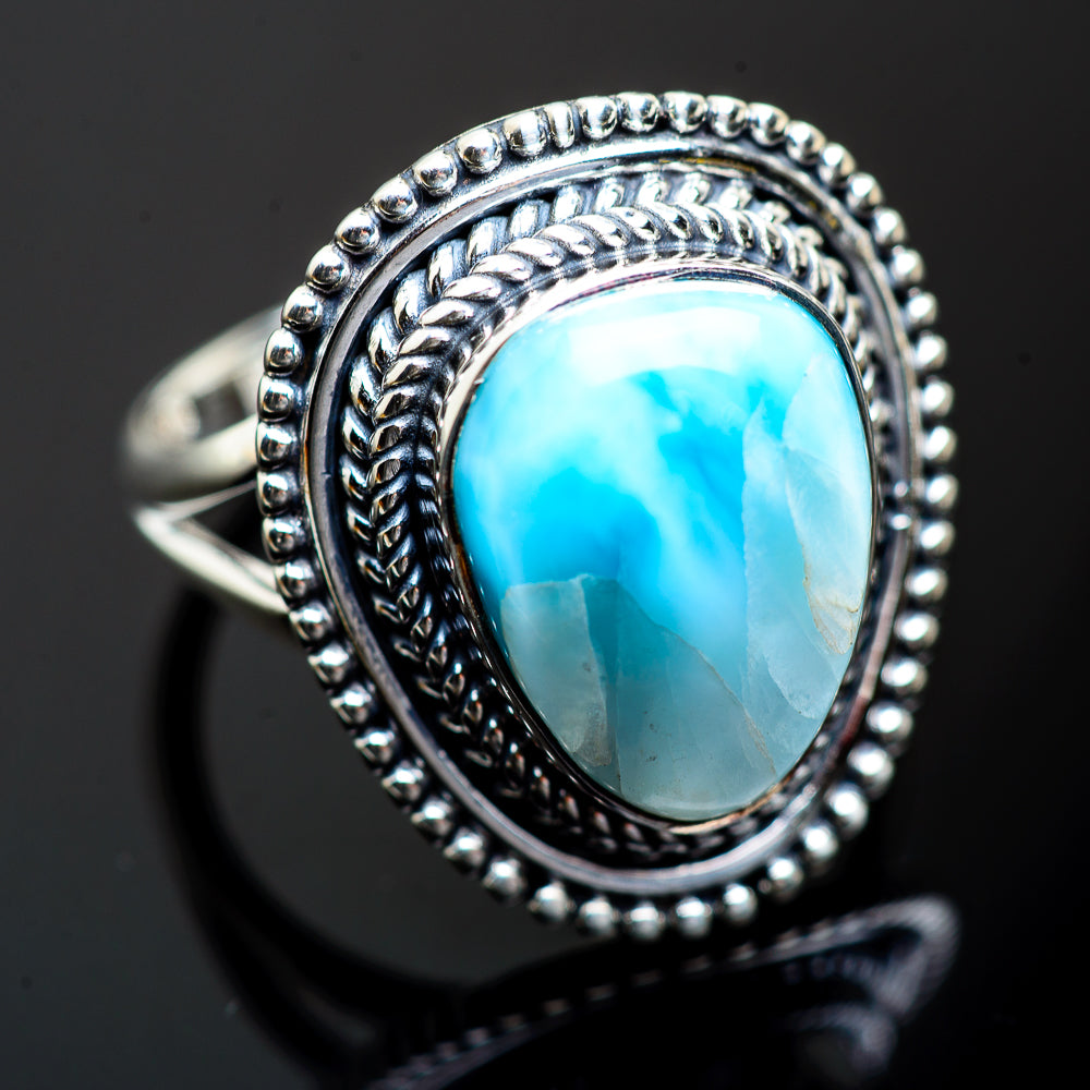 Larimar Rings handcrafted by Ana Silver Co - RING996831