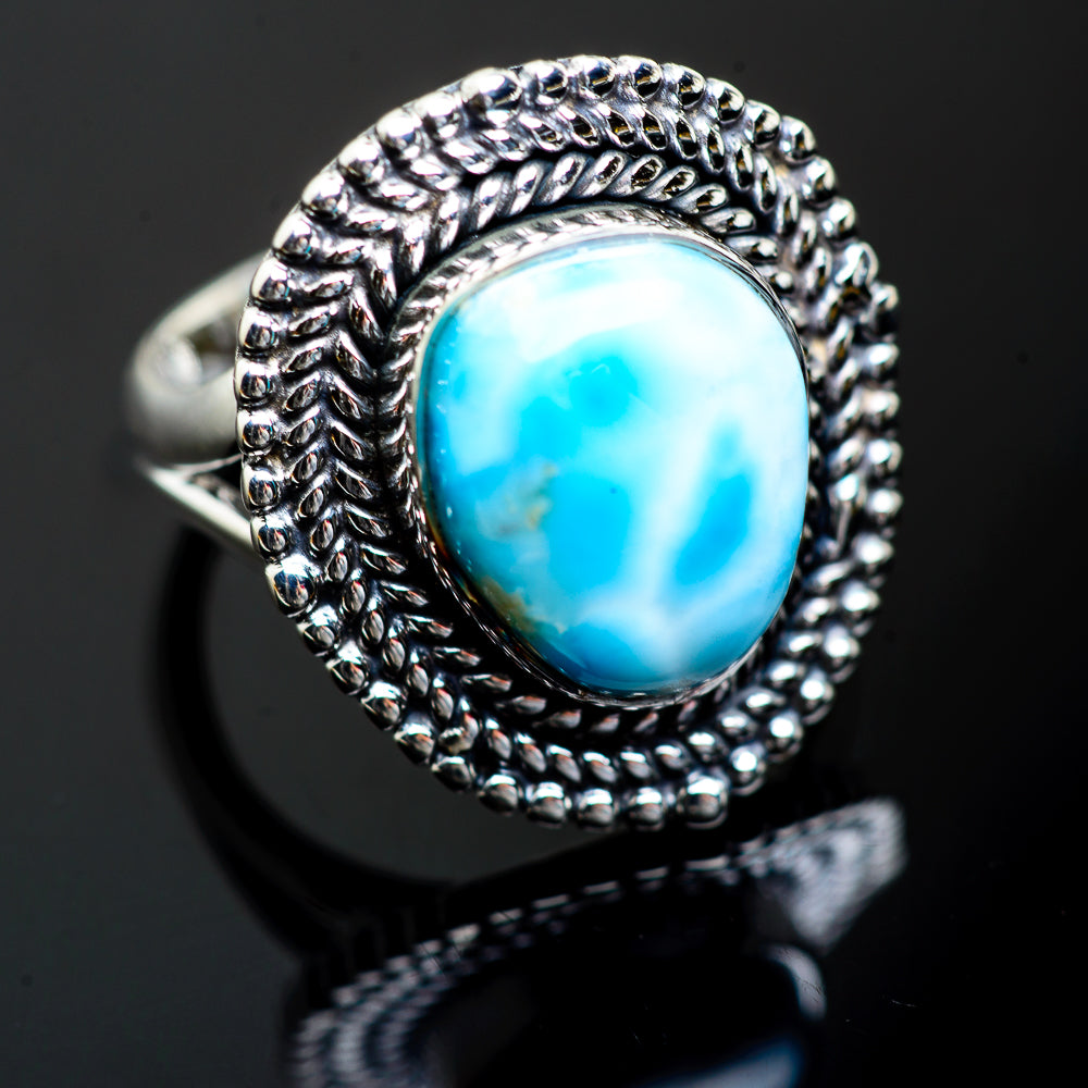 Larimar Rings handcrafted by Ana Silver Co - RING996871