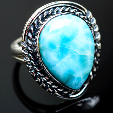Larimar Rings handcrafted by Ana Silver Co - RING996926
