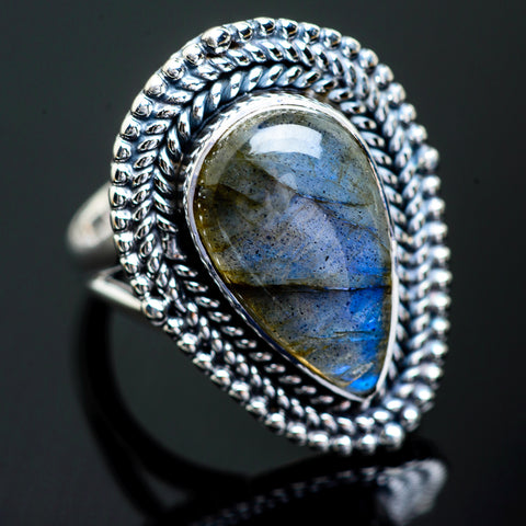 Labradorite Rings handcrafted by Ana Silver Co - RING997128
