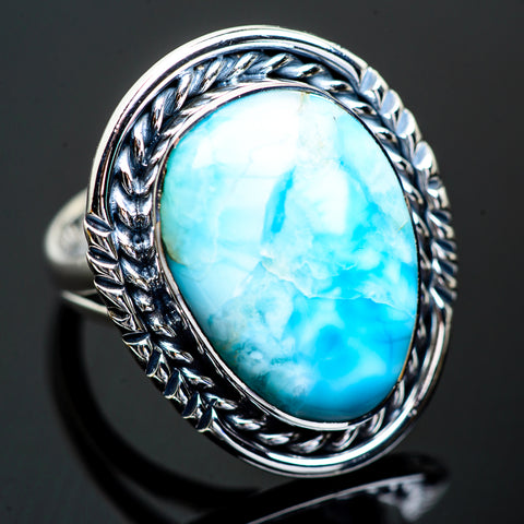 Larimar Rings handcrafted by Ana Silver Co - RING997285