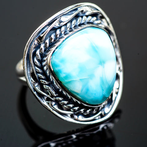 Larimar Rings handcrafted by Ana Silver Co - RING997364
