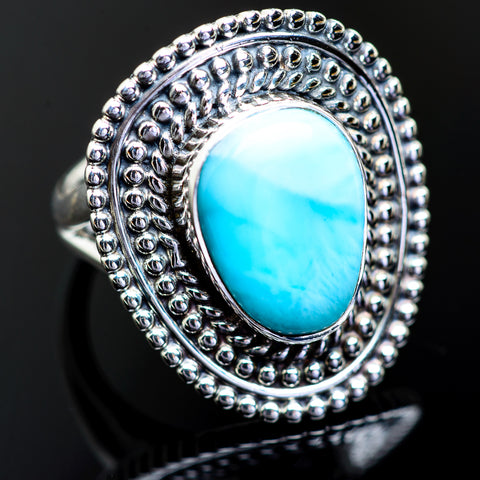 Larimar Rings handcrafted by Ana Silver Co - RING999092