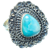Larimar Rings handcrafted by Ana Silver Co - RING11021