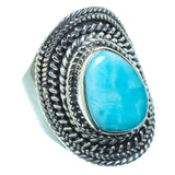 Larimar Rings handcrafted by Ana Silver Co - RING11028