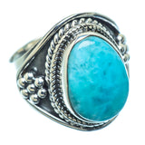 Larimar Rings handcrafted by Ana Silver Co - RING11033