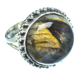 Labradorite Rings handcrafted by Ana Silver Co - RING11227