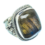 Labradorite Rings handcrafted by Ana Silver Co - RING11445