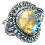 Labradorite Rings handcrafted by Ana Silver Co - RING11651