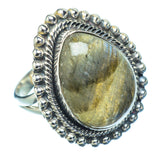 Labradorite Rings handcrafted by Ana Silver Co - RING12049