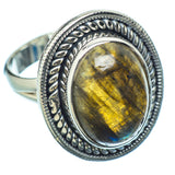 Labradorite Rings handcrafted by Ana Silver Co - RING12300