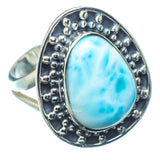 Larimar Rings handcrafted by Ana Silver Co - RING12661