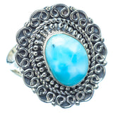 Larimar Rings handcrafted by Ana Silver Co - RING12902