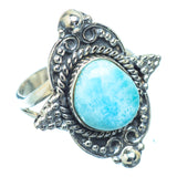 Larimar Rings handcrafted by Ana Silver Co - RING13375
