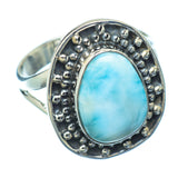 Larimar Rings handcrafted by Ana Silver Co - RING13468