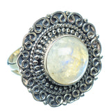 Rainbow Moonstone Rings handcrafted by Ana Silver Co - RING13662