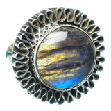 Labradorite Rings handcrafted by Ana Silver Co - RING13678