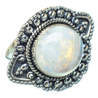 Rainbow Moonstone Rings handcrafted by Ana Silver Co - RING13973