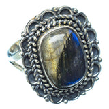 Labradorite Rings handcrafted by Ana Silver Co - RING14101