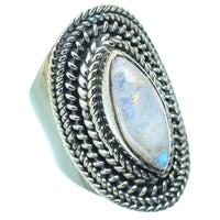 Rainbow Moonstone Rings handcrafted by Ana Silver Co - RING14238