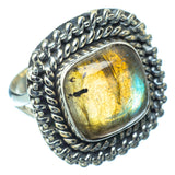 Labradorite Rings handcrafted by Ana Silver Co - RING14281