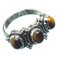 Tiger Eye Rings handcrafted by Ana Silver Co - RING20082