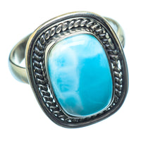 Larimar Rings handcrafted by Ana Silver Co - RING20281
