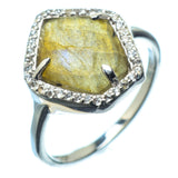 Labradorite Rings handcrafted by Ana Silver Co - RING20689