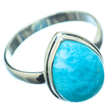 Larimar Rings handcrafted by Ana Silver Co - RING21180