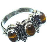 Tiger Eye Rings handcrafted by Ana Silver Co - RING21415