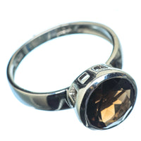 Smoky Quartz Rings handcrafted by Ana Silver Co - RING21492
