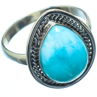 Larimar Rings handcrafted by Ana Silver Co - RING21635