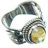 Rutilated Quartz Rings handcrafted by Ana Silver Co - RING24366
