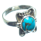 Blue Copper Composite Turquoise Rings handcrafted by Ana Silver Co - RING26037