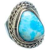 Larimar Rings handcrafted by Ana Silver Co - RING2642