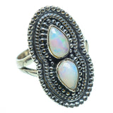 Ethiopian Opal Rings handcrafted by Ana Silver Co - RING29736