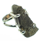 Spectro Pyrite Druzy Rings handcrafted by Ana Silver Co - RING30084