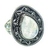 Rainbow Moonstone Rings handcrafted by Ana Silver Co - RING30482