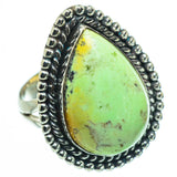 Lemon Chrysoprase Rings handcrafted by Ana Silver Co - RING30663