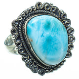 Larimar Rings handcrafted by Ana Silver Co - RING31581