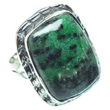 Ruby Zoisite Rings handcrafted by Ana Silver Co - RING32738