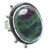 Ruby Zoisite Rings handcrafted by Ana Silver Co - RING33339