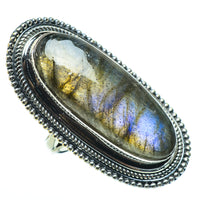 Labradorite Rings handcrafted by Ana Silver Co - RING33612