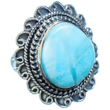 Larimar Rings handcrafted by Ana Silver Co - RING3476