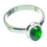 Chrome Diopside Rings handcrafted by Ana Silver Co - RING35218