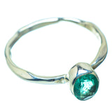 Zambian Emerald Rings handcrafted by Ana Silver Co - RING35824